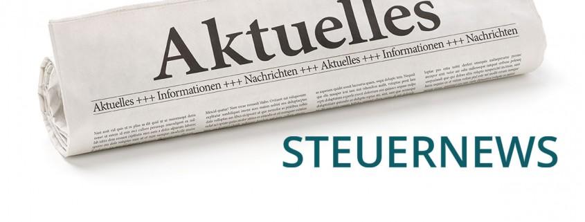 Steuernews - Steuerberater Pegnitz